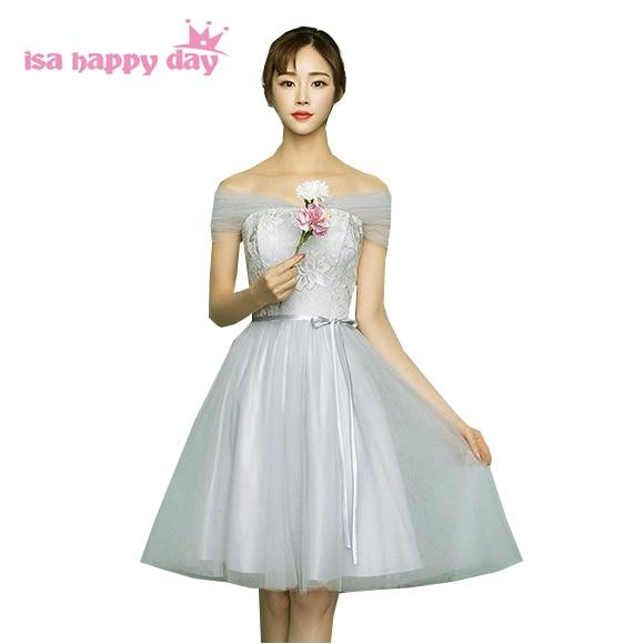 gray colored ladies strapless size 6 short bridesmaid corset dresses ...