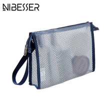 NIBESSER Transparent Cosmetic Bag Large Capacity Shower Wash Toilet Bag & Organizer Toothbrush Pouch Portable Travel Bag