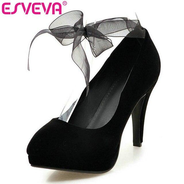 Femmes sexy minces talons hauts chaussures de plate-forme de pompes pour mariage de mariage couleur noir TAILLE 41 1Z7vXzW