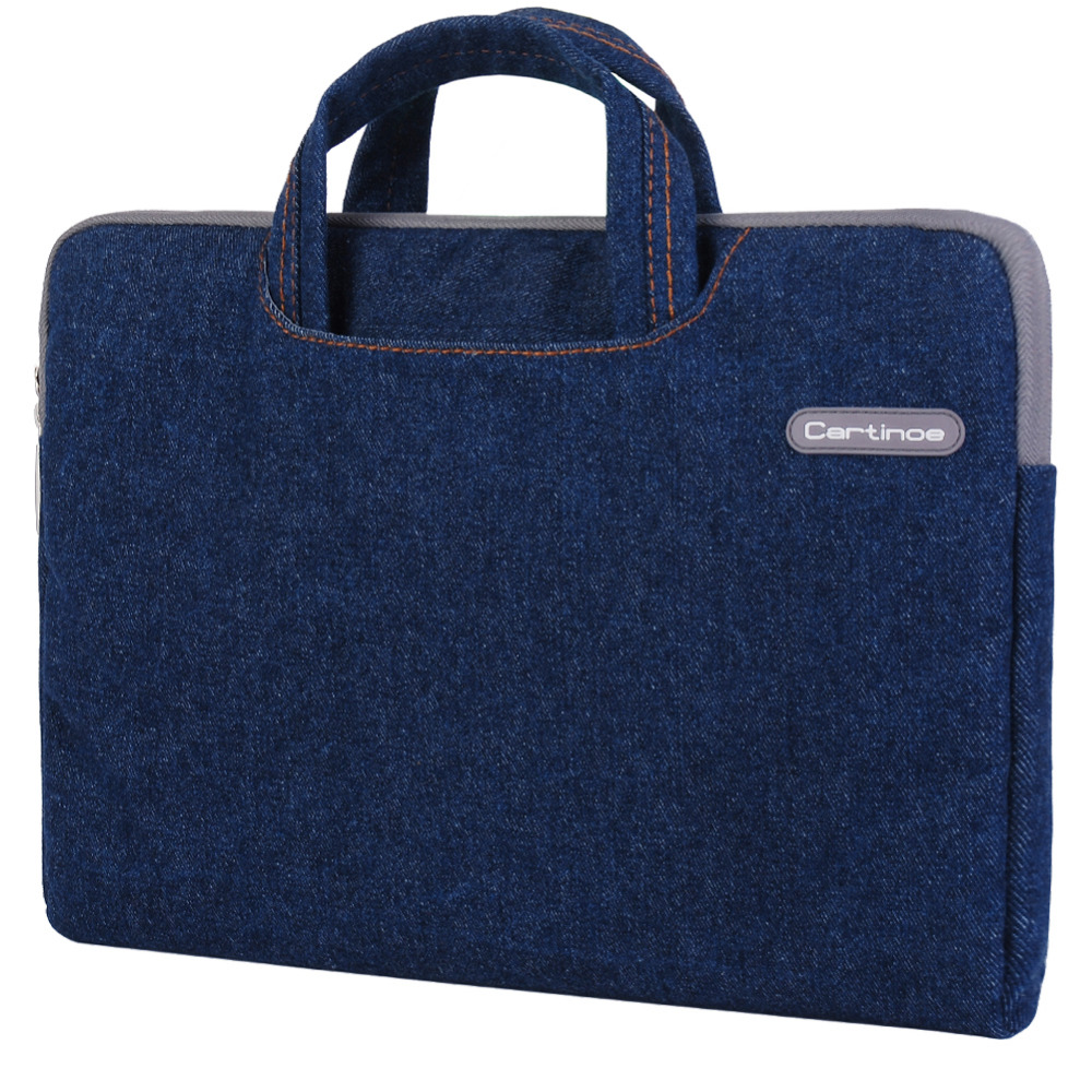 Jeans Portable 11 12 13 14 15 inch Waterproof Laptop Bag Case Cover for Macbook Air/ Pro 13 15 Laptop Sleeve Case Briefcase