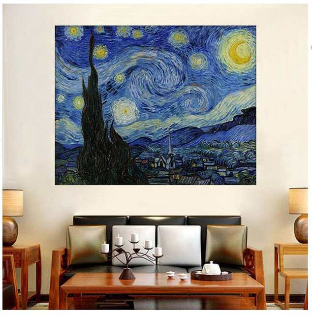 Us 979 30 Offhd Vincent Van Gogh Canvas Prints Painting Wall Art Starry Night Landscape Oil Paintings Home Decoration Impressionist In Painting