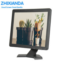 Zhixianda 17 Inch Resistive Touch Screen Monitor VGA HDMI 1280x1024 With VESA Stand For PC CCTV