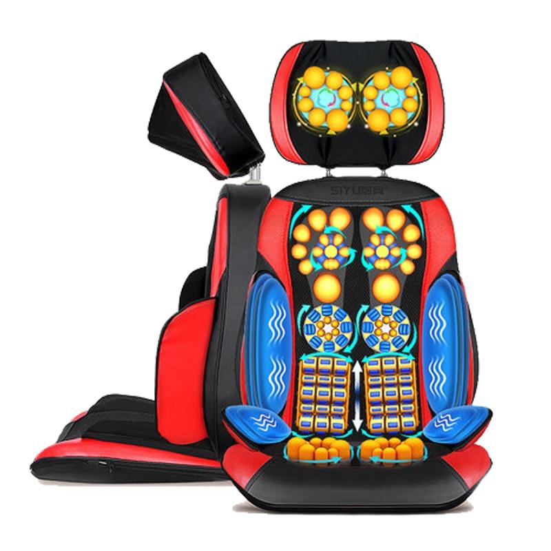 Электрический Вибрационный массажер для спины высокого качества нагрев тела, массажные стул, диван устройства Массажная подушка для шеи по...