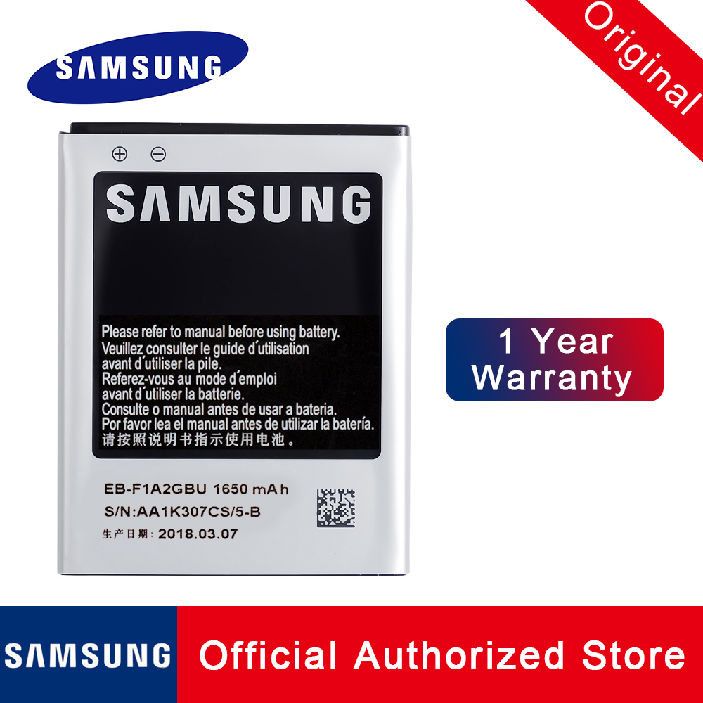 Original Samsung Replacement battery EB-F1A2GBU For Samsung Galaxy S2 <font><b>I9100</b></font> 9100 i9100g i9103 i9105 I9108 i9050 1650mAh Batteria image