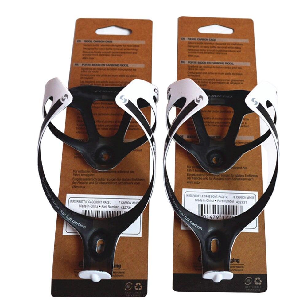 2 PCS pleine bouteille de fiber de carbone cages bouteille porte avec porte-cartes accessoires vélo mat finition 2 couleur vtt vélo de route pièces 74mm