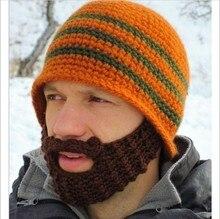 Высокое Качество Популярных Осень Зима Борода Hat Вязание Строку Смешной Шляпе