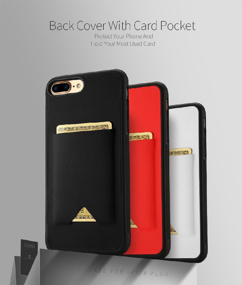 Group Vertical DUX DUCIS For iPhone 78 Plus Ultra-thin Phone Protective Back Case with Card Slot r30