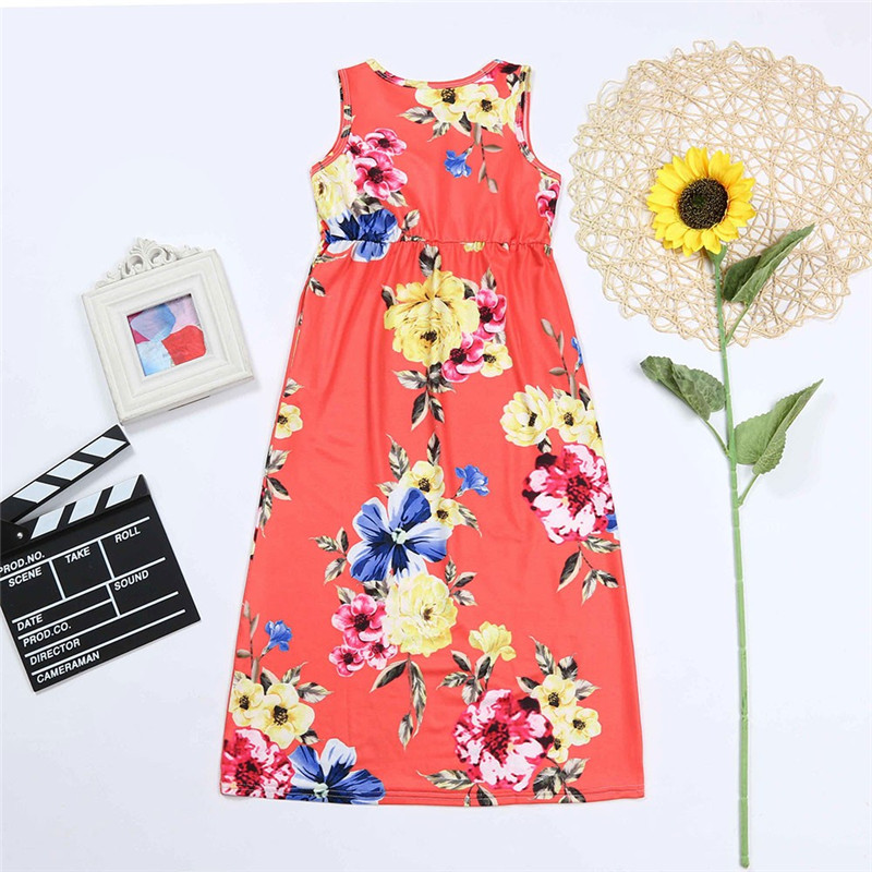 Family-matching-clothes-Slim-Pocket-Boho-Floral-Long-Dress-Mom-and-daughter-dress-mama-hija (5)