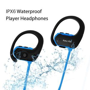 Image 2 - Ralyin المحمولة لبس MP3 مشغل موسيقى 8 جيجابايت سماعات لاعب مشغل mp3 سماعة سماعات رياضة mp3 مقاوم للماء ل شاومي