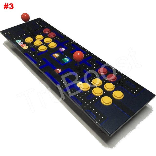 2 Players Double Raspberry Pi Arcade Game Retro Console Multiple Wooden Artwork Panel Game Preinstalled