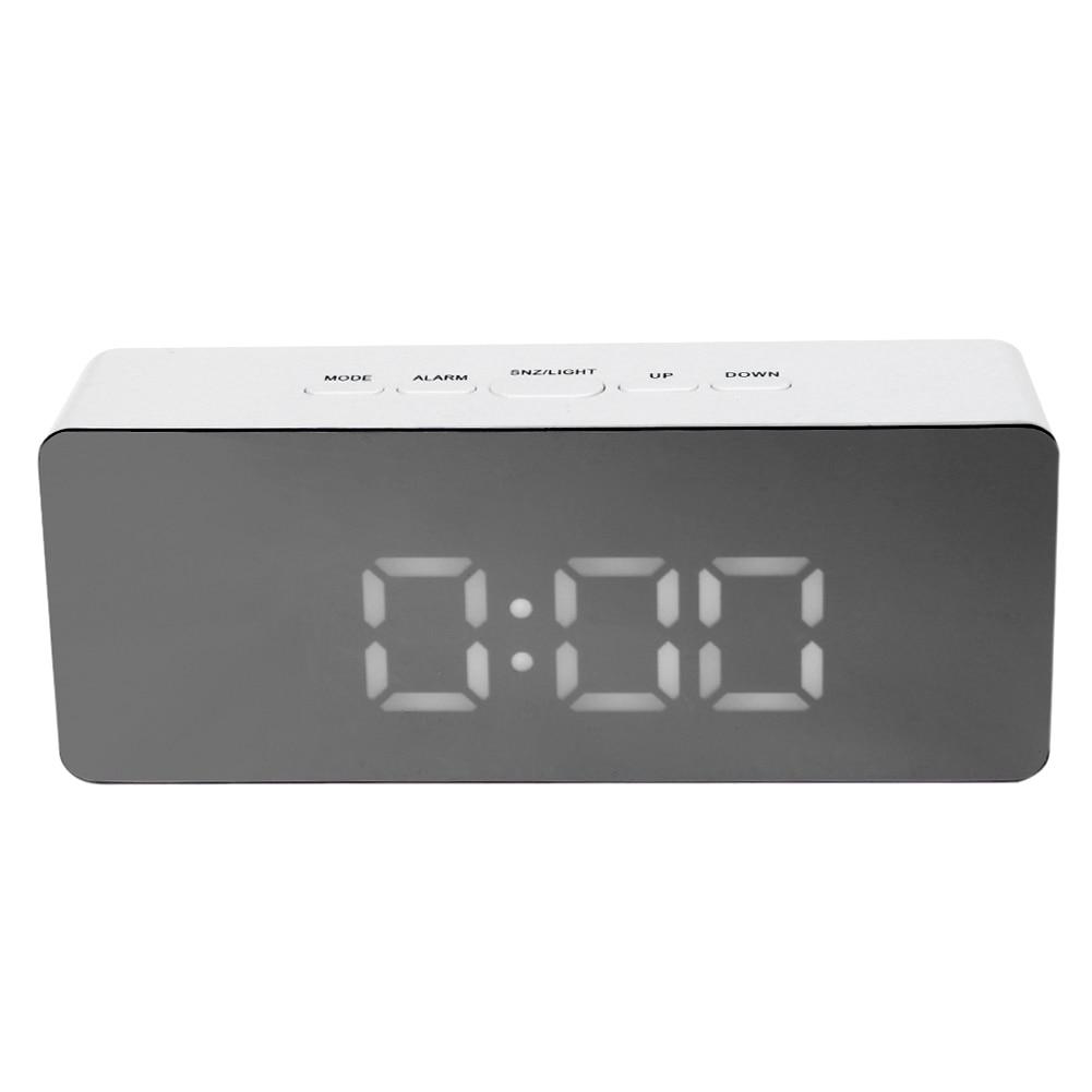 Multifunction Digital Alarm Clock Led Night Light Mirror