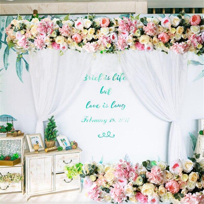 Ev ve Bahçe'ten Yapay ve Kurutulmuş Çiçekler'de Düğün kemer çiçek sıra çiçek yapay çiçekler duvar düğün sahne arka plan ev dekoratif sahte çiçek ticari ekran'da  Grup 2