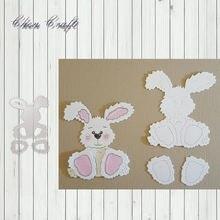 Форма для высечки мультяшного кролика Рождественская форма резки