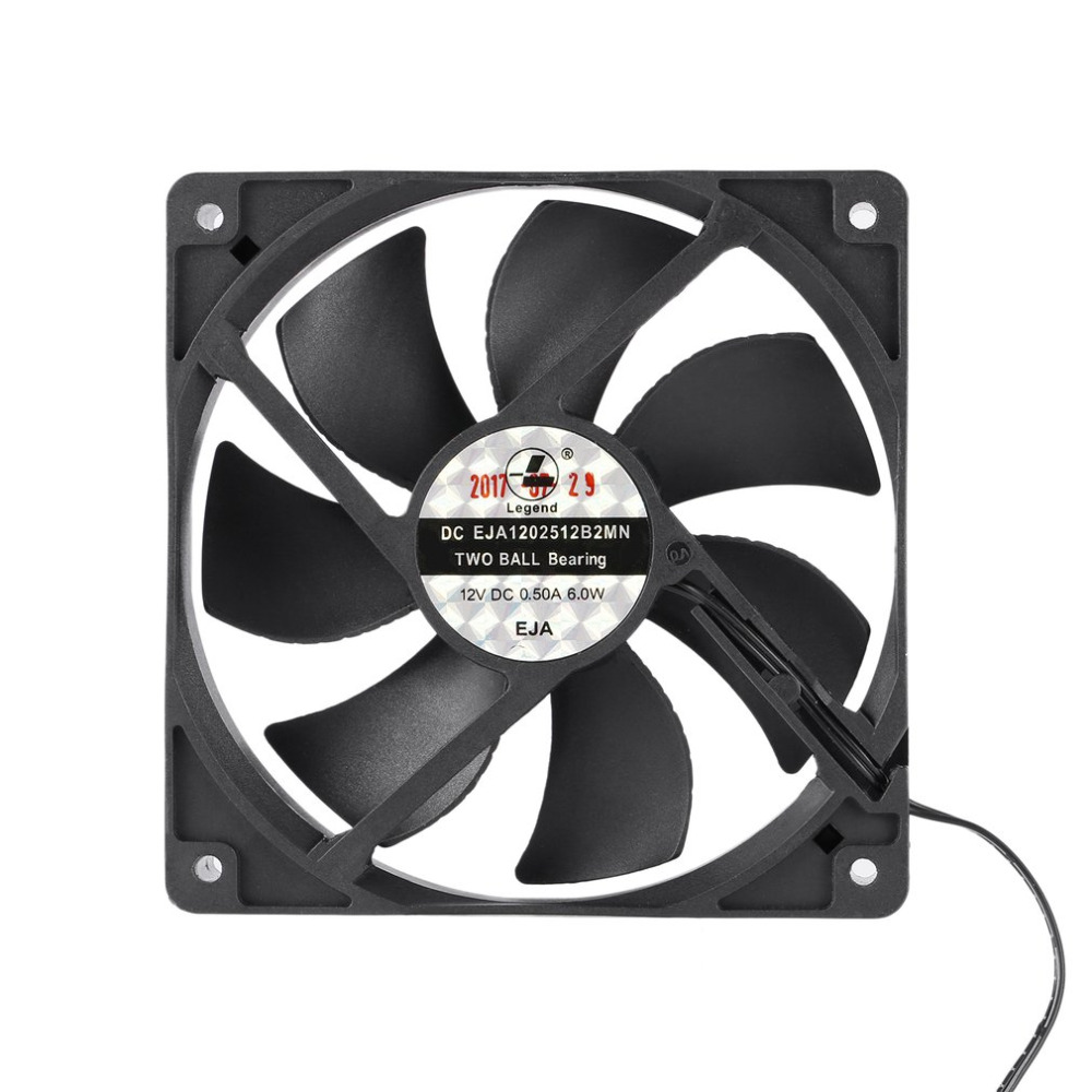 120mm DC 12V Miner Mining Case Cooling Fan Large Air Volume Dual Ball Bearing Cooling Fan 3000RPM 1.6A 154.5CFM Drop Shipping original sunon pmd1207ptv1 a 7025 magnetic levitation maintenance bearing large air volume 7cm fan 70x70x25mm