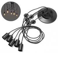 Retro Vintage Lámparas colgantes 1.8 m cable 1/3/5 cabezas E27 industrial Edison lámpara colgante lámparas ac110-220v