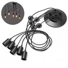 Retro Vintage Pendant Lights 1.8m Cable 1/3/5 Heads E27 Industrial Edison Pendant Lamp Fixtures AC110-220V