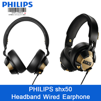 Professional Philips SHX50 Headphone with Bright LED computer game headset Headband Style Earphone Support official test