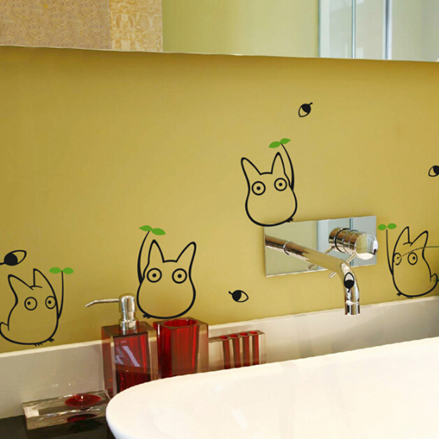 Japanese Cartoon Animation Vinyl Wall Sticker Totoro Wall Decals For ...