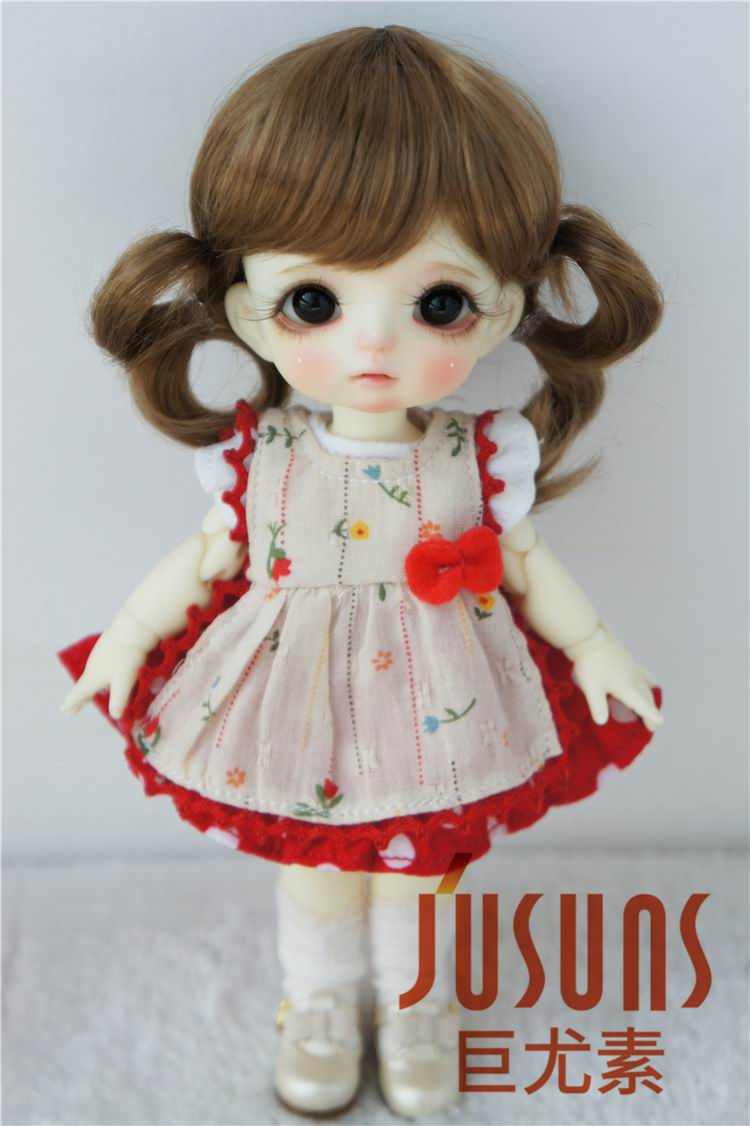 JD199 1/8 1/6 Cute Lati doll wigs  size 5-6 inch 6-7 inch Fashion  Synthetic mohair BJD wig twin pony wig doll accessories jd199 1 8 1 6 cute lati doll wigs size 5 6 inch 6 7 inch fashion synthetic mohair bjd wig twin pony wig doll accessories