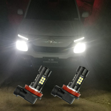 цена на 2Pcs H8 H11 Led HB4 9006 HB3 9005 Fog Lights Bulb 1200LM 6000K White Car Driving Lamp Auto Leds Light 12V 24V