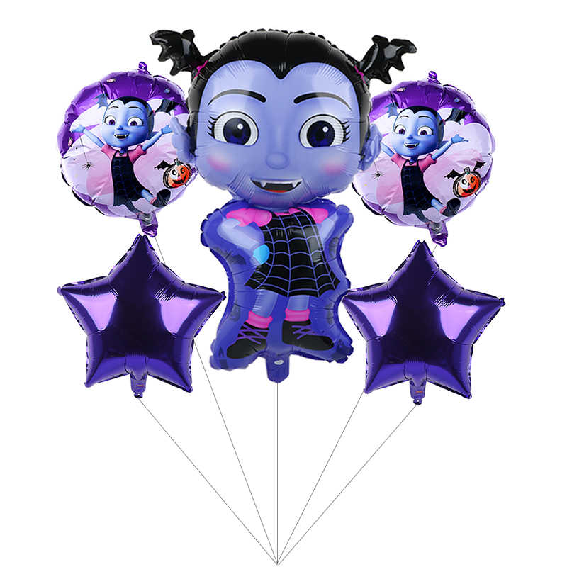 5pcs Pentagram Vampire Helium Balloons Children Toys Decorations Birthday Party Superman Balloon Wholesale Vampirina Balloon