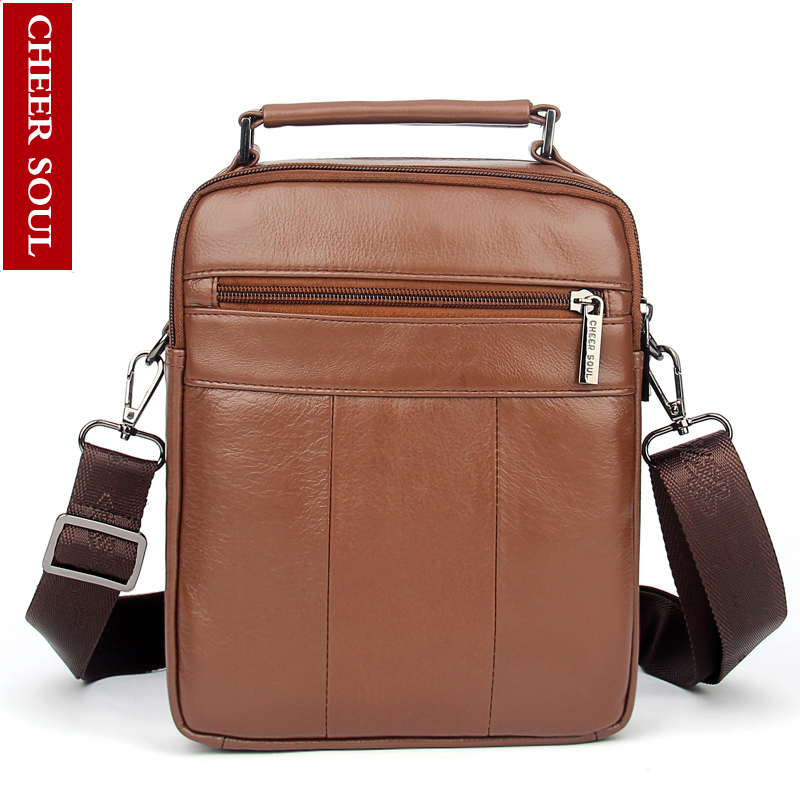 bffdaf851b MEIGARDASS Genuine Leather Shoulder Bags Men Messenger Bag Small ipad Male  Tote Vintage New Crossbody Bags ...