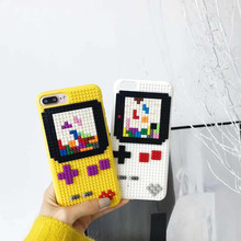 DIY legos Block Toy Snake Phone Case iPhone 7 X 8 6S XR Plus Plastic Cover 3D Cartoon SF