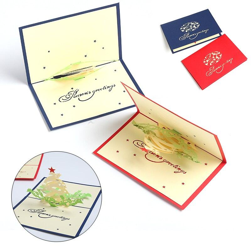 postcard cartoon folding paper 3d pop up card birthday