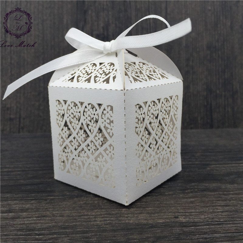 50pcs laser cut paper candy box wedding party favor box gift box wedding box for wedding decoration party supplies