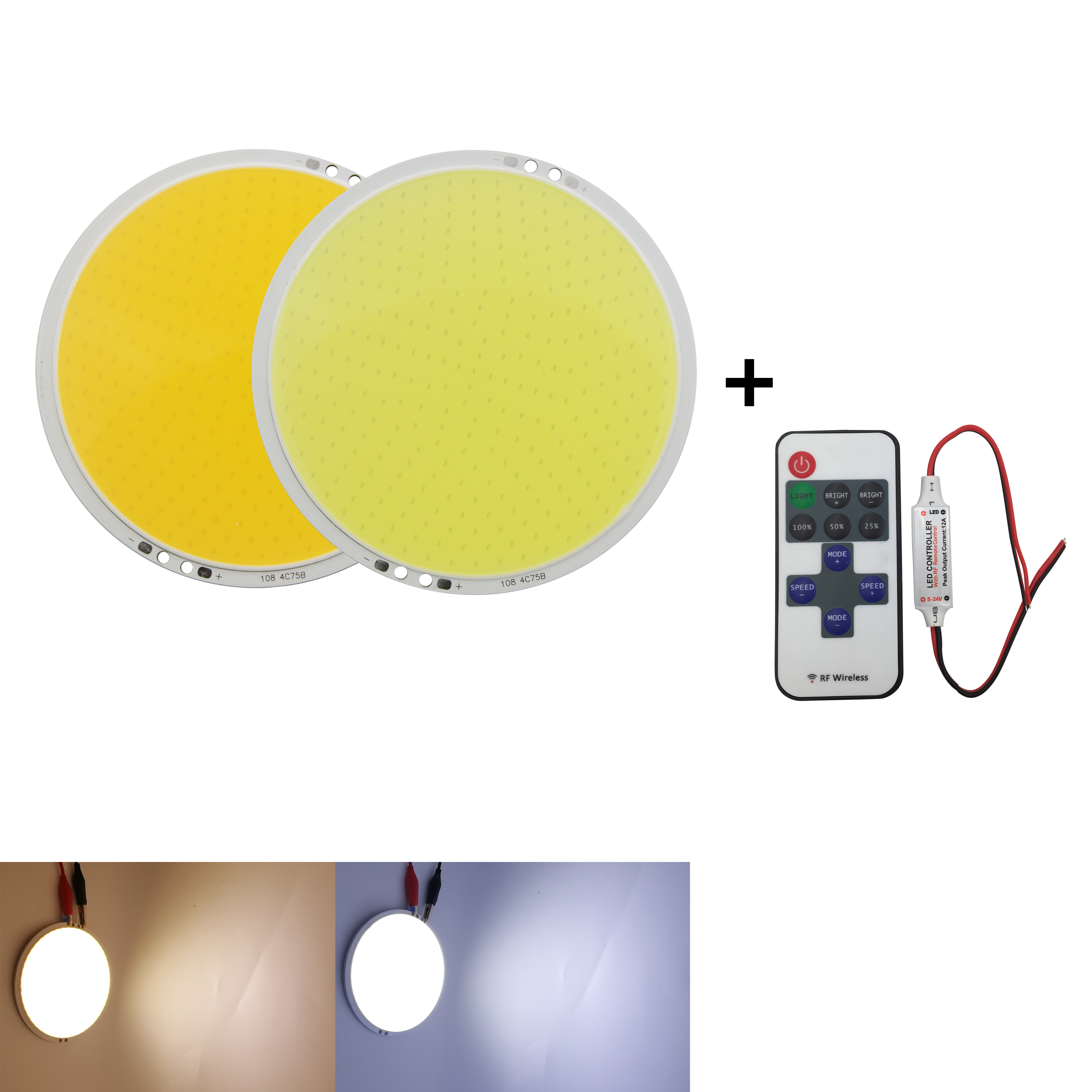 Green 8mm T2 1//2 LEDS Jumbo LED 10 LOT