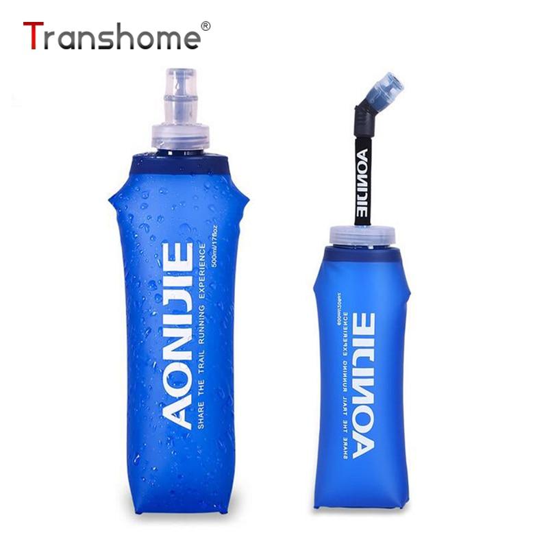 Transhome Silicone Folding Water Bottle 500ml Inklapbare Outdoor - Keuken, eetkamer en bar
