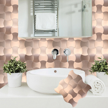 2019 Homey Mosaic Fireproof Modern Self-adhesive Tiles for Kitchen Backsplash New Design Peel and Stick Wall Tile 12 Inch