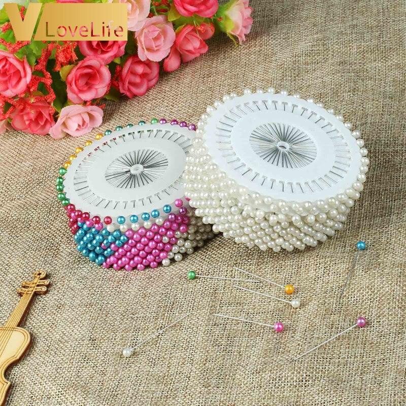 480 pcs 1.5 pouces Perle Ronde Tête Droite Pins Couture Faux Poire Corsage Broches pour DIY Vêtements Accessoires de Couture Aiguilles
