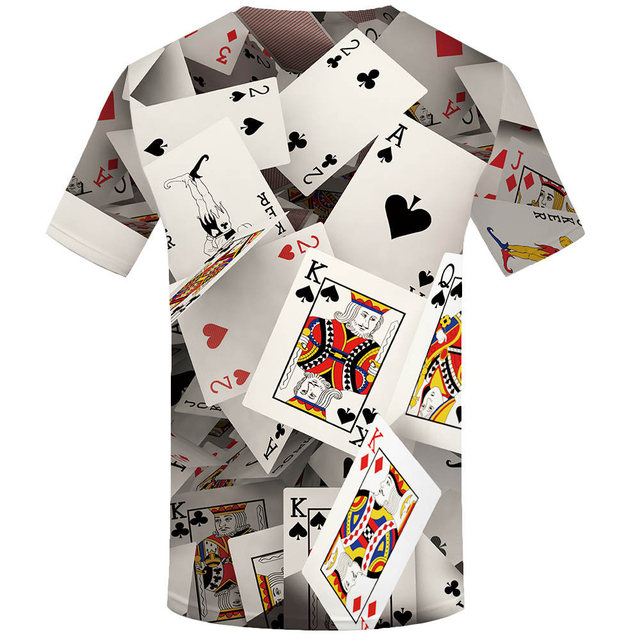 Poker Cards Printed T-Shirt