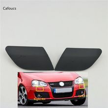 For Volkswagen VW Golf V MK5 GTI 2003-2009 Front Bumper Headlight Head Lamp Washer Nozzle Cover Cap 2x transparent housing headlight lens shell cover lamp assembly for vw mk5 golf 5 gti gli jetta 2005 2009 car styling xnc