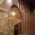 Southeast Asian Pastoral style Rattan art  Droplight,hand knitted Conch/Snail Pendant Light Restaurant Hotel Coffee Hanging Lamp