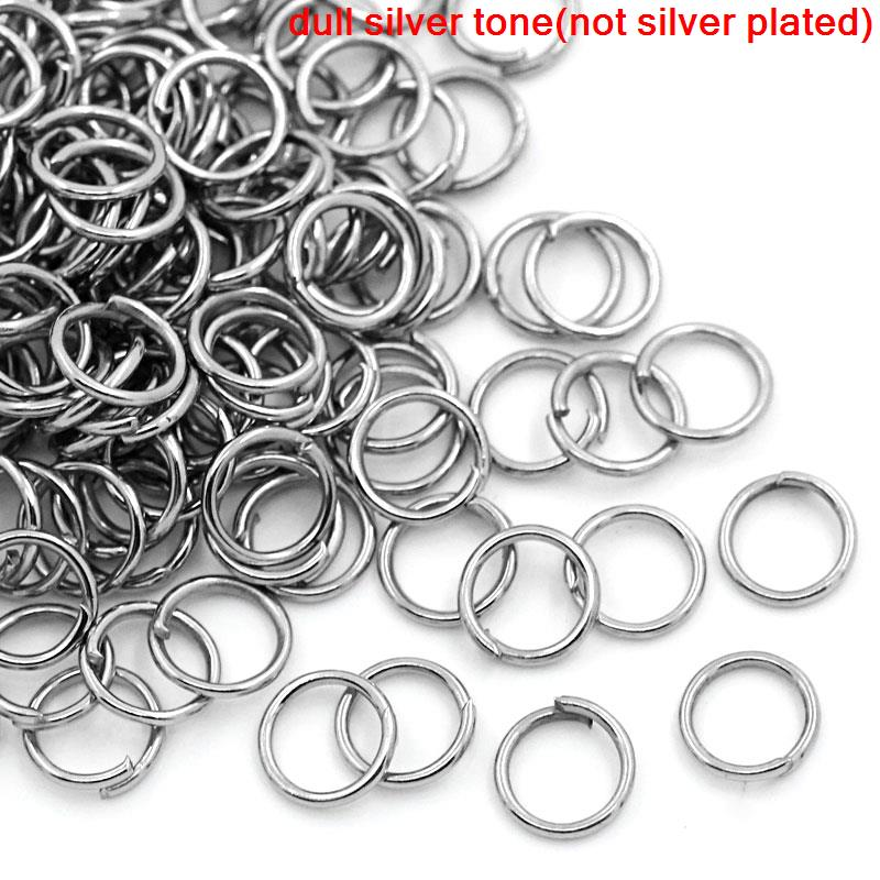 Doreen Box Lovely 1000PCs dull silver tone Open Jump Ring 6mm dia. (B00171) 1000pcs 1 4w metal film resistors 750kohm 1