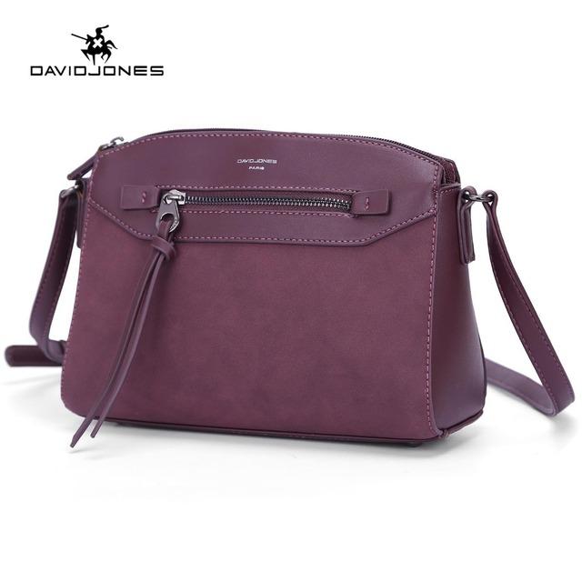 DAVIDJONES women messenger bags faux leather brand crossbody bag free shipping