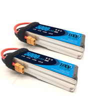 DXF Power 2PCS 11.1V 5000mAh 50C max 100C with XT60 plug 3S Lipo Battery For RC Helicopters Airplane Car Drone RC turck