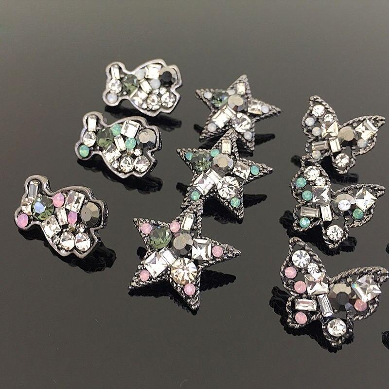1-Ювелирные изделия из стразов с кристаллами и металлическими пуговицами, Очаровательная Пряжка, наклейки с изображением медведя, животных, ... смотреть на Алиэкспресс Иркутск в рублях