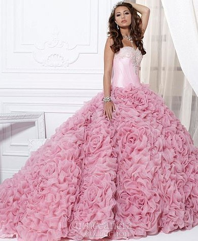 508a00d5a7d Luxury Ruched Pleat Quinceanera Dress Ball Gown Pink Real Photos Vestidos  Debutante Girls Costume Sweetheart Appliques