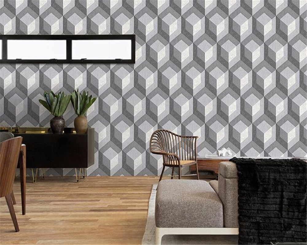 купить beibehang papel de parede Modern minimalist geometric non-woven fabric modern wallpaper living room bedroom hall wall project недорого