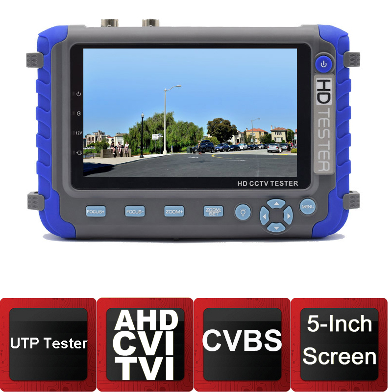 5inch Screen CVI Camera Tester AHD Test Monitor CVI Tester CCTV Camera Tester with HDMI VAG input RS485 PTZ pro skit taiwan bao mt 7062 hdmi cable measuring tester test