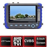 5inch Screen CVI Camera Tester AHD Test Monitor CVI Tester CCTV Camera Tester With VAG Input