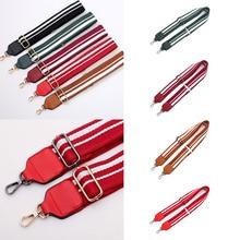 Fashion Adjustable Womens Bag Belt Crossbody Shoulder Replacement Fabric Bag Strap New Handbag Striped Canvas Red Bag Belts Hot