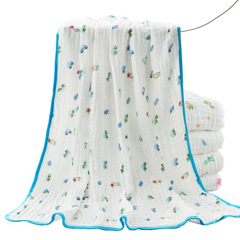 Discount! Cotton 105*105cm Baby Bedding Newborn Baby Blanket Supplies Newborn Super Soft Cartoon Blankets Kids Bath Towel
