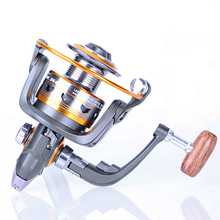 Brass Carp Spinning Fishing Reel Salt Water Wheel Trolling Coils Line Roller Carretilha Pesca 11 ball bearing, gear ratio 5.2:1.