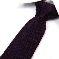 Fashion Men Gentlemen Solid Tie Knit Knitted Tie Plain Necktie Narrow Slim Skinny Woven