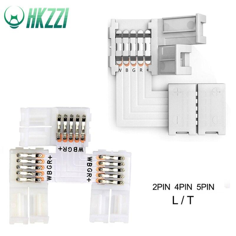 HKZZI LED Strip Connectors 2PIN 3PIN 4PIN 5PIN L / T Shape 10mm Free Welding Connector 5pcs/lot for RGB RGBW RGBWW  DropshippingHKZZI LED Strip Connectors 2PIN 3PIN 4PIN 5PIN L / T Shape 10mm Free Welding Connector 5pcs/lot for RGB RGBW RGBWW  Dropshipping