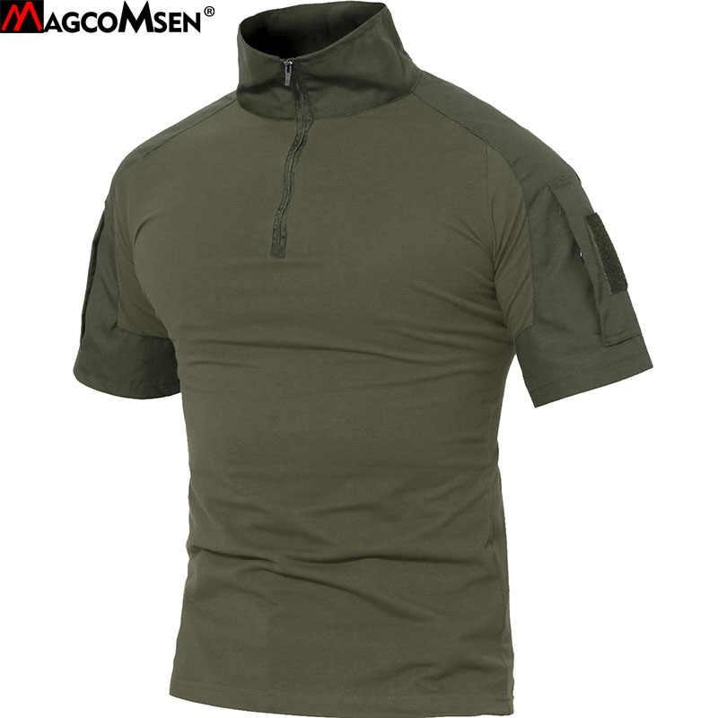 MAGCOMSEN Мужская Военная тактическая футболка хлопок короткий спецназ солдатики Боевая футболка страйкбол одежда мужская камуфляжная армейская рубашка